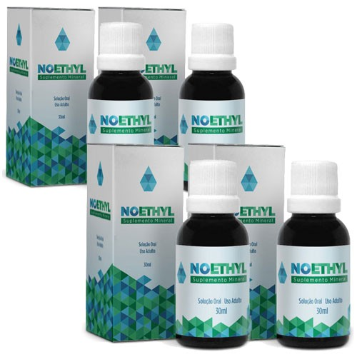 Noethyl - Anti-Alcool - 4 Potes - 20% de Desconto (Tratamento Completo para 90 Dias)