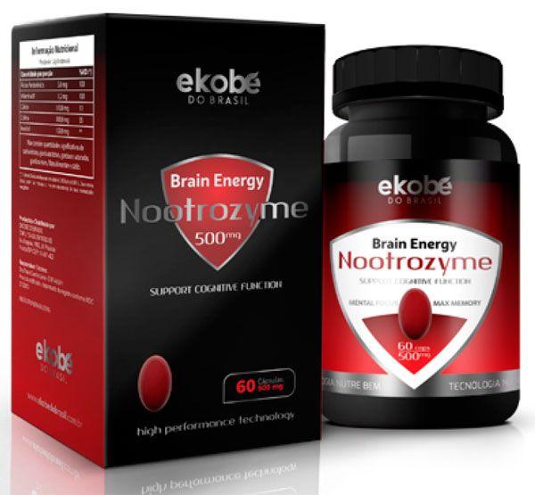 Nootrozyme - Brain Energy - 500mg - 60 cáps