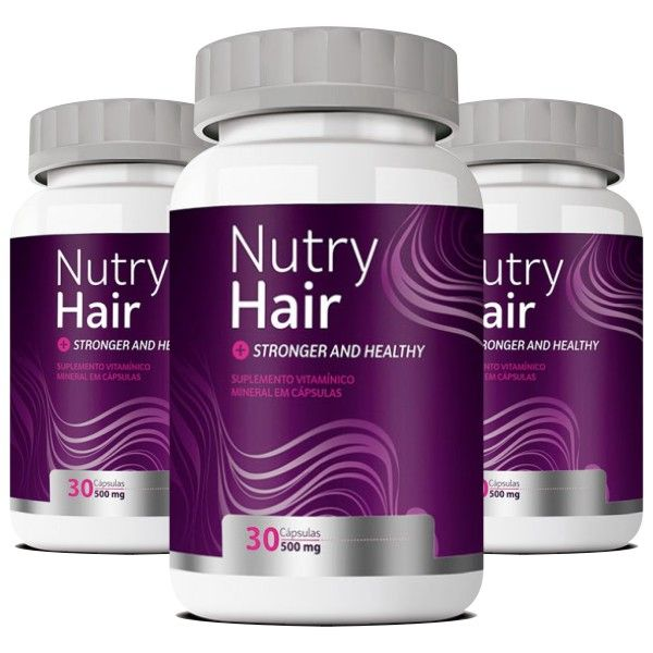 Nutry Hair - 500mg - Compre 2, Leve 3