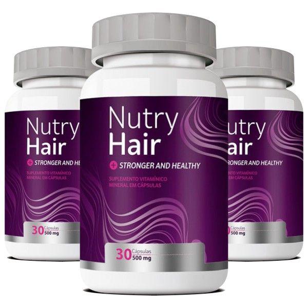 Nutry Hair |Original | Vitamina para Cabelos - 03 Potes  - LA Nature