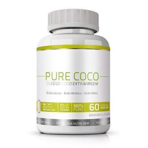 Pure Coco|Óleo de Coco Extra Virgem 100% Puro|Emagrecedor - 01 Pote  - LA Nature