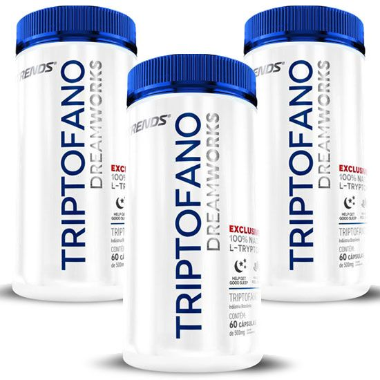 Triptofano - L-Tryptophan 500mg | Ativador de Melatonina - 03 Potes  - LA Nature