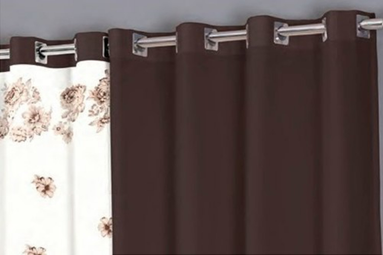 Cortina Para SalaQuarto Horto Realce Top 3,00mx2,50 Sultan Chocolate  Casas