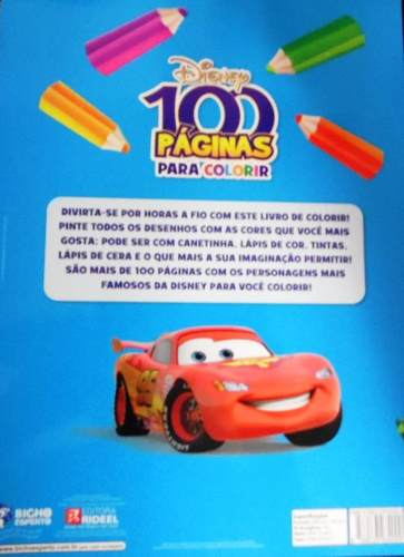 Livro Disney - 100 Páginas Para Colorir - Meninos