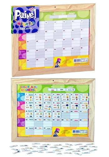 Painel Magnético Educativo - Calendario