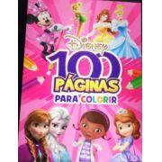 Livro Disney - 100 Páginas Para Colorir - Meninas