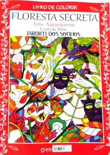 Livro de Colorir Jardim dos Sonhos - Floresta Secreta