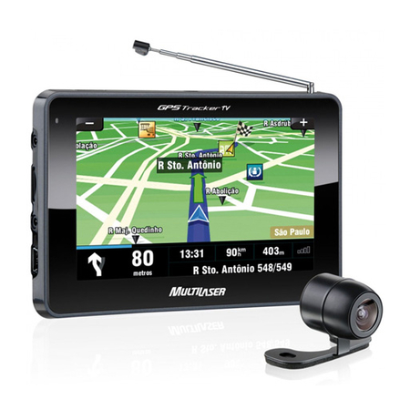 GPS Multilaser 4.3 Polegadas Touchscreen c/ TV + Câmera de Ré - GP035 Outlet
