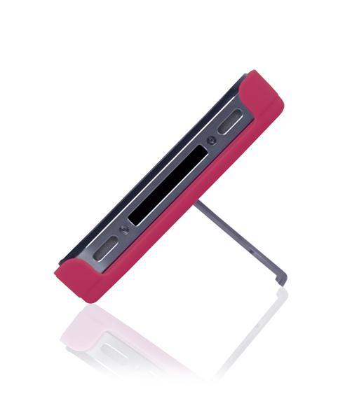 Capa E Suporte Multilaser Para Iphone 4s Rosa E Prata - Bo326