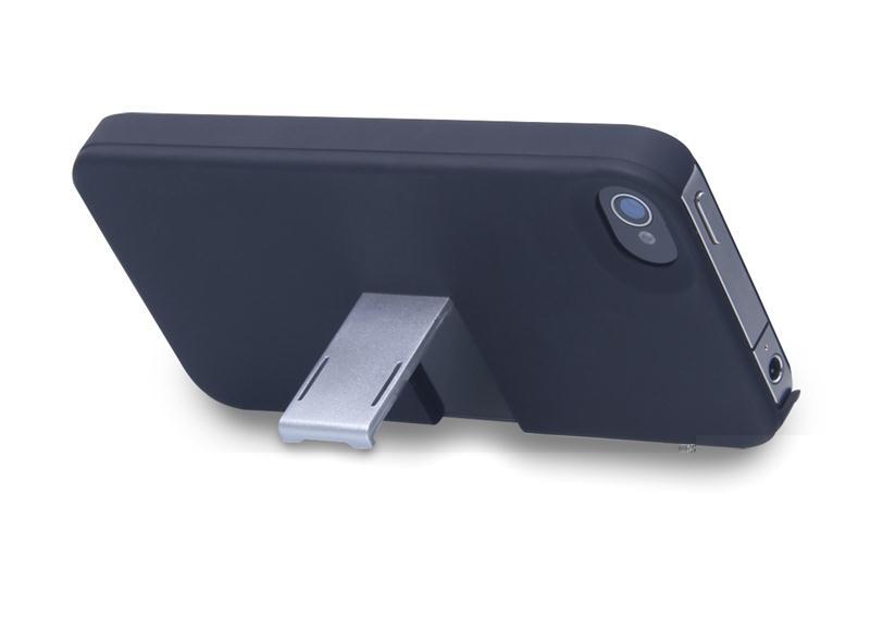 Capa E Suporte Multilaser Para Iphone 4/4s Preto E Prata - Bo324