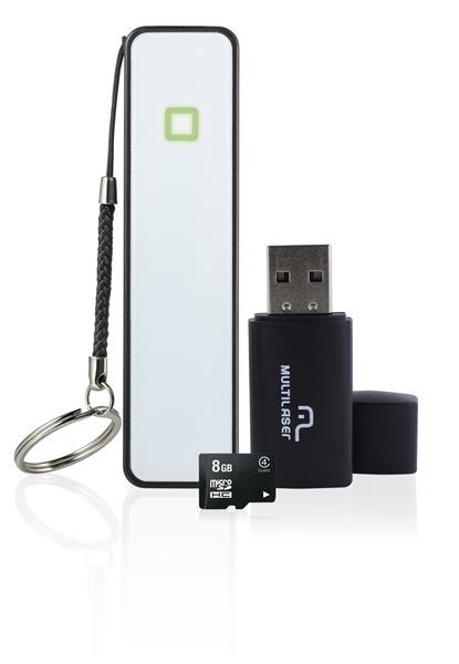 Kit Smartphone: Power Bank+pendrive+cartao De Memoria Cl4 8gb