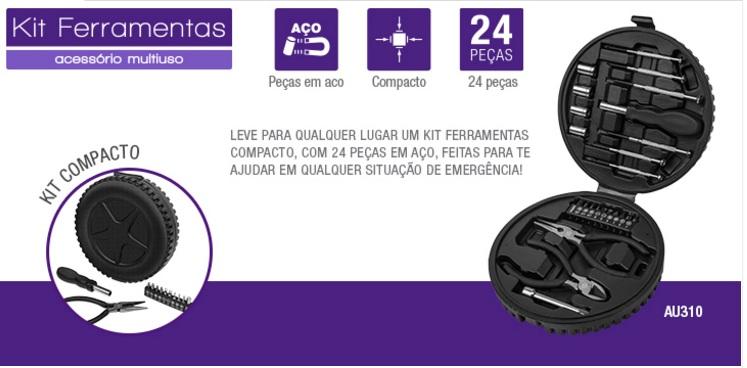 Kit De Ferramentas Multilaser 24 Peças - Au310