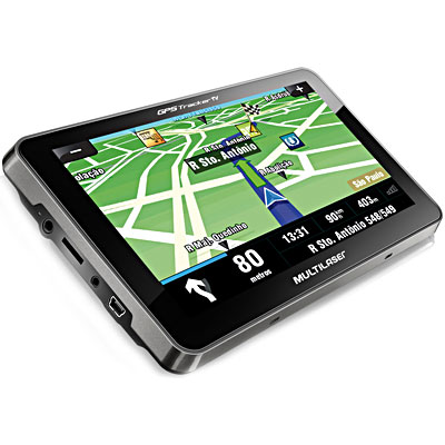 "Navegador GPS Tracker 7"" preto c/TV GP038 Multilaser"