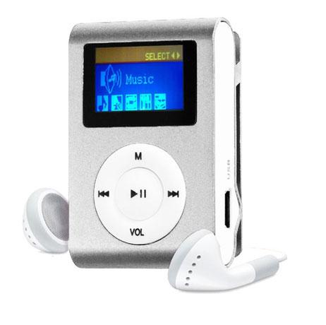 MP3 Player com Entrada SD e Fone de Ouvido Prata