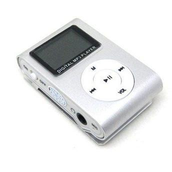 MP3 Player com Entrada SD e Fone de Ouvido Prata + Mc058
