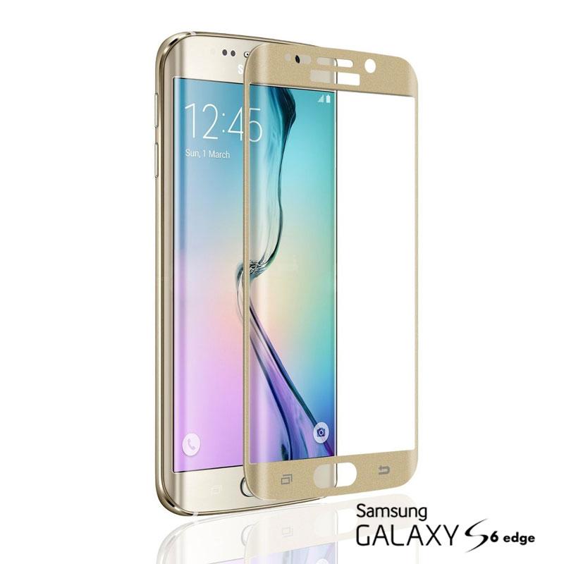Pelicula de Vidro Samsung S6 Edge Dourada
