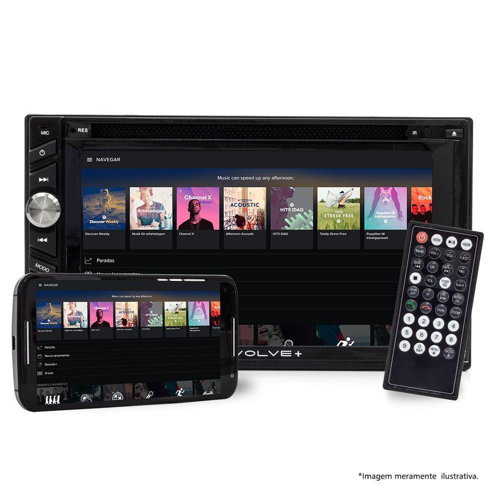 Central Multimídia Multilaser 2 Din Evolve+ GPS, TV e Espelhamento Tela 6.2 USB, SD, Aux, BT GP043 Outlet