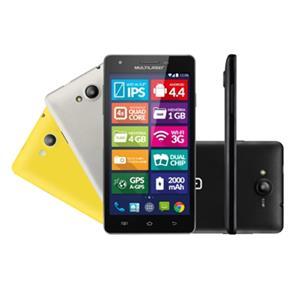 Smartphone Ms6 Preto Com Tela 5,5pol Dual Chip Android 4.4 Câmera 8mp Multilaser P3312