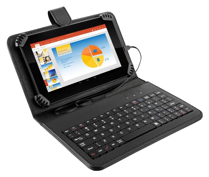 Tablet Multilaser M7s Preto Com Teclado + Case Quad Core Android 4.4 Kit Kat Wi-fi Tela 7' Memoria 8gb - Nb196