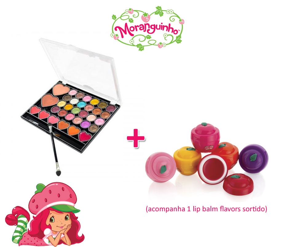 Kit Moranguinho Teclado do Amor  + 1 lip Balm Flavors sortido