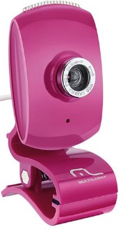 Webcam Plug&Play Pink Piano WC048 - Multilaser