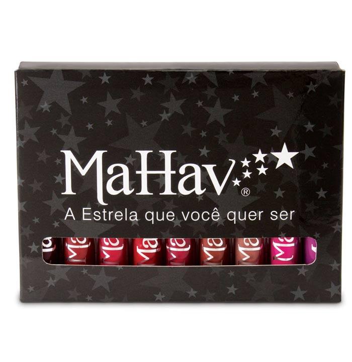 Kit com 9 batons  Liquidos Matte Mahav