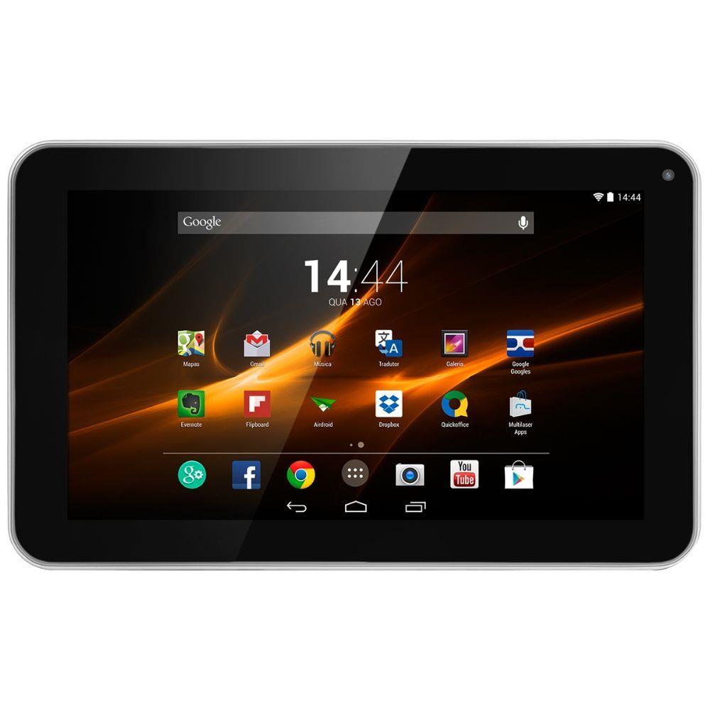 Tablet Multilaser M9 Branco Quad Core Android 4.4 Kit Kat Dual Câmera Wi-Fi Tela 9 Mem 1GB e 8GB Flash NB175