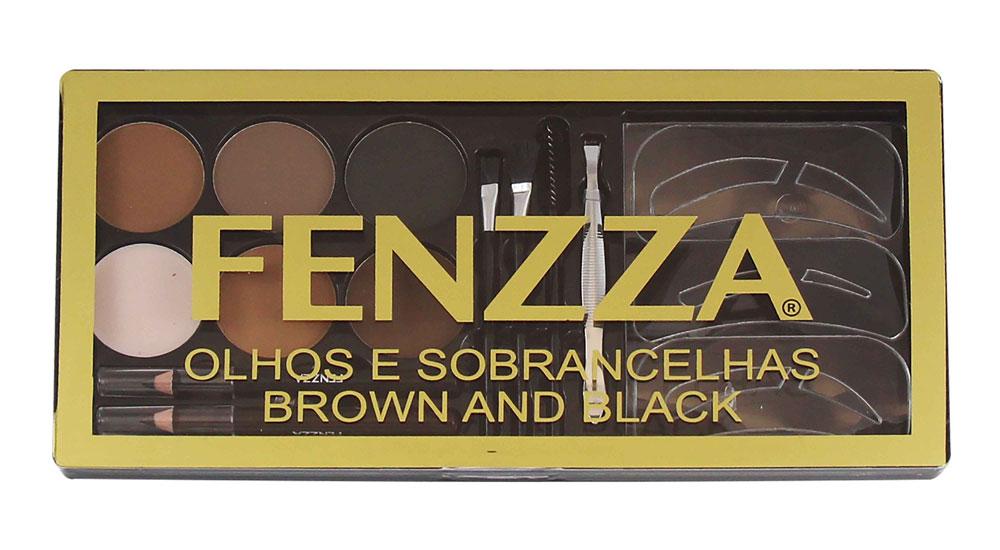 Kit de Maquiagens Olhos e Sobrancelhas Brown and Black Fenzza KM19