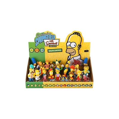 Simpsons Top Collection Display com 24 Peças Multilaser BR499
