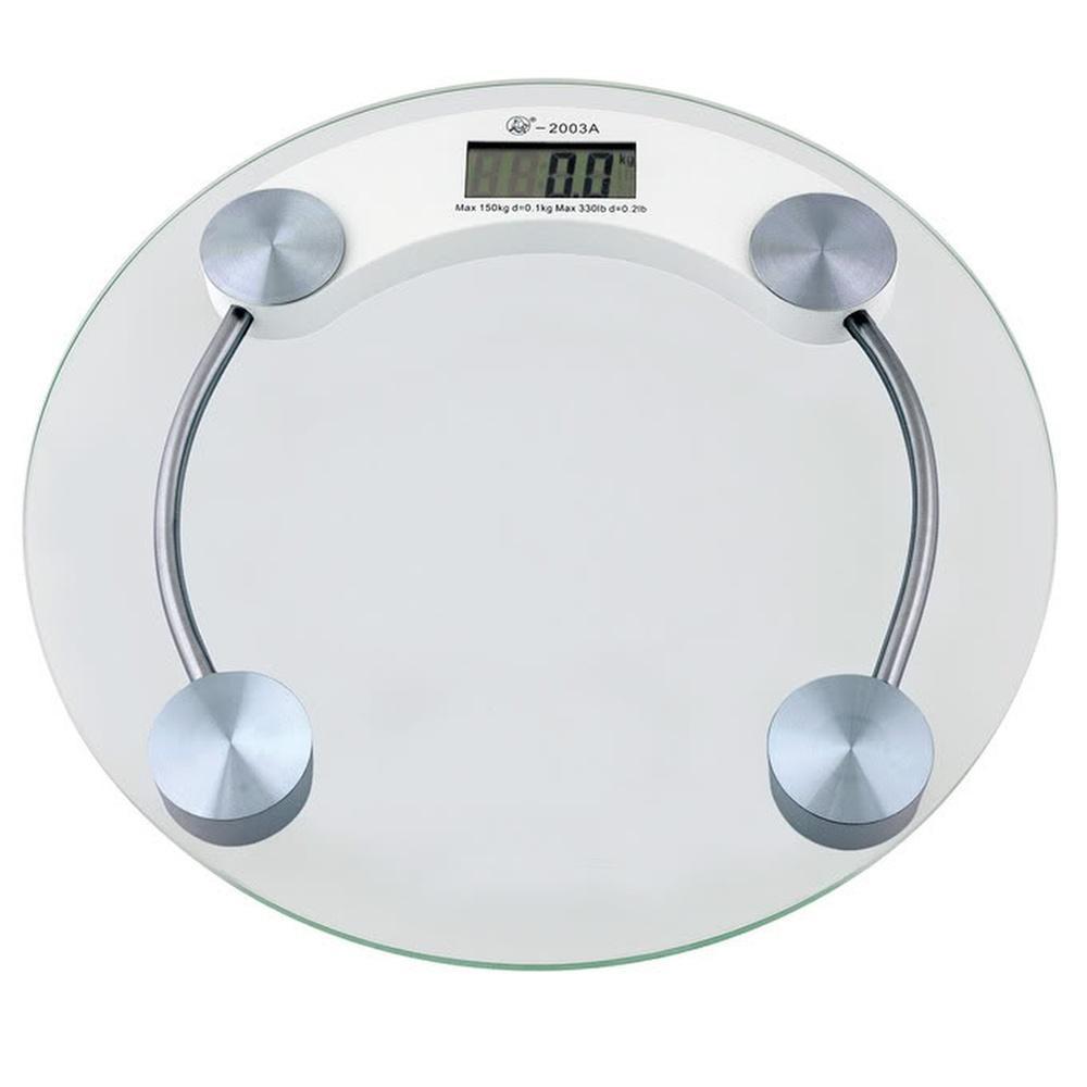 Balança Eletrônica Digital 150 kgs Redonda Vidro Temperado