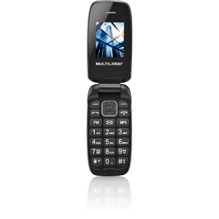 Celular Flip Up Dual Chip MP3 Preto Multilaser - P9022