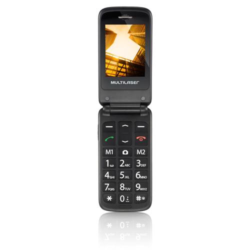 Celular Flip Vita Dual Chip MP3 Azul Multilaser - P9020 Funções Idoso