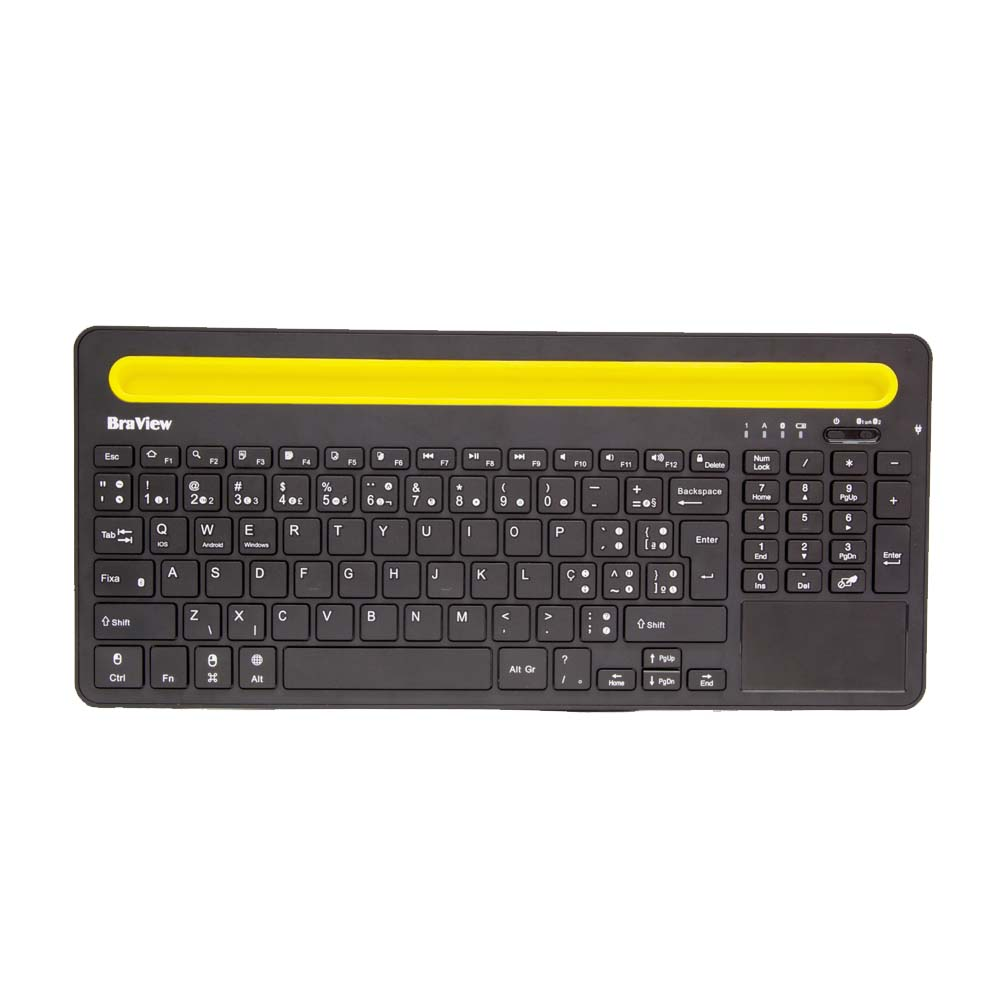 Teclado Bluetooth Sem Fio Com Touch Pad Incluso Scorpion Tmo 02b Braview