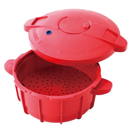 Panela de Pressao para Micro-ondas Vizio Easy Cooker - 2,5 L Vermelho