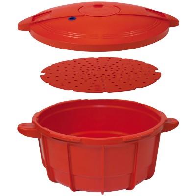 Panela de Pressao para Micro-ondas Vizio Easy Cooker - 4 L Vermelho