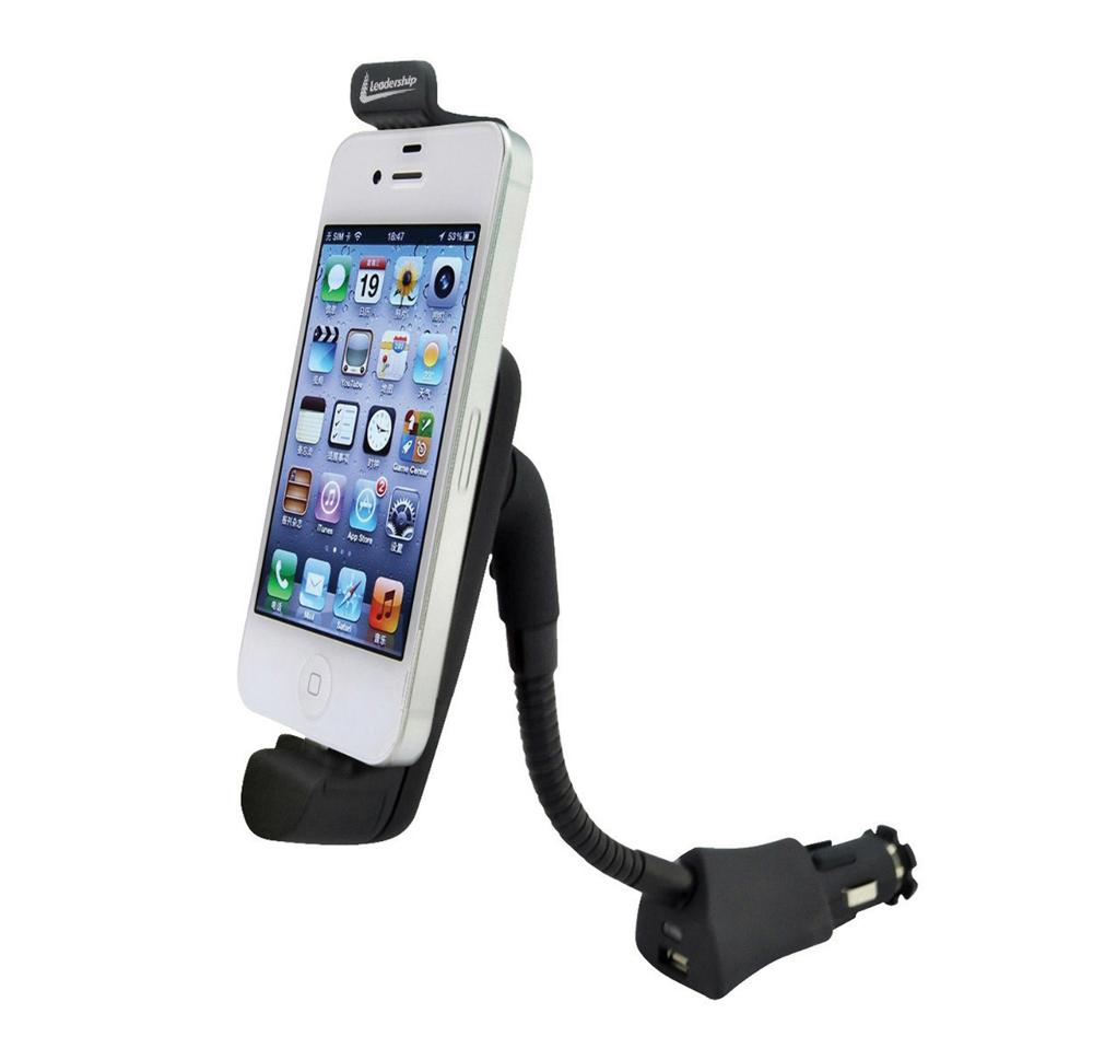 Suporte Veicular Leadership 12V com carregador para IPhone 4/4S