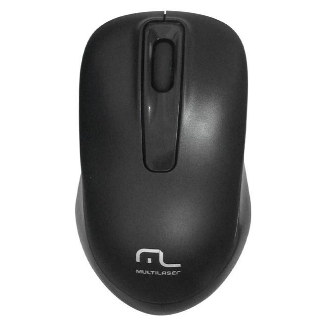 Teclado e Mouse Multilaser TC 162 Sem Fio 2.4 GHZ Multimidia USB Preto