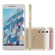 Smartphone Multilaser MS55 Colors Dual P9004 Dourado Branco