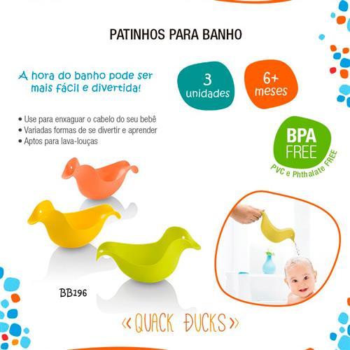 Kit de Patinhos para Banho Quack Ducks 3 Peças BB196 - Multilaser - Multilaser