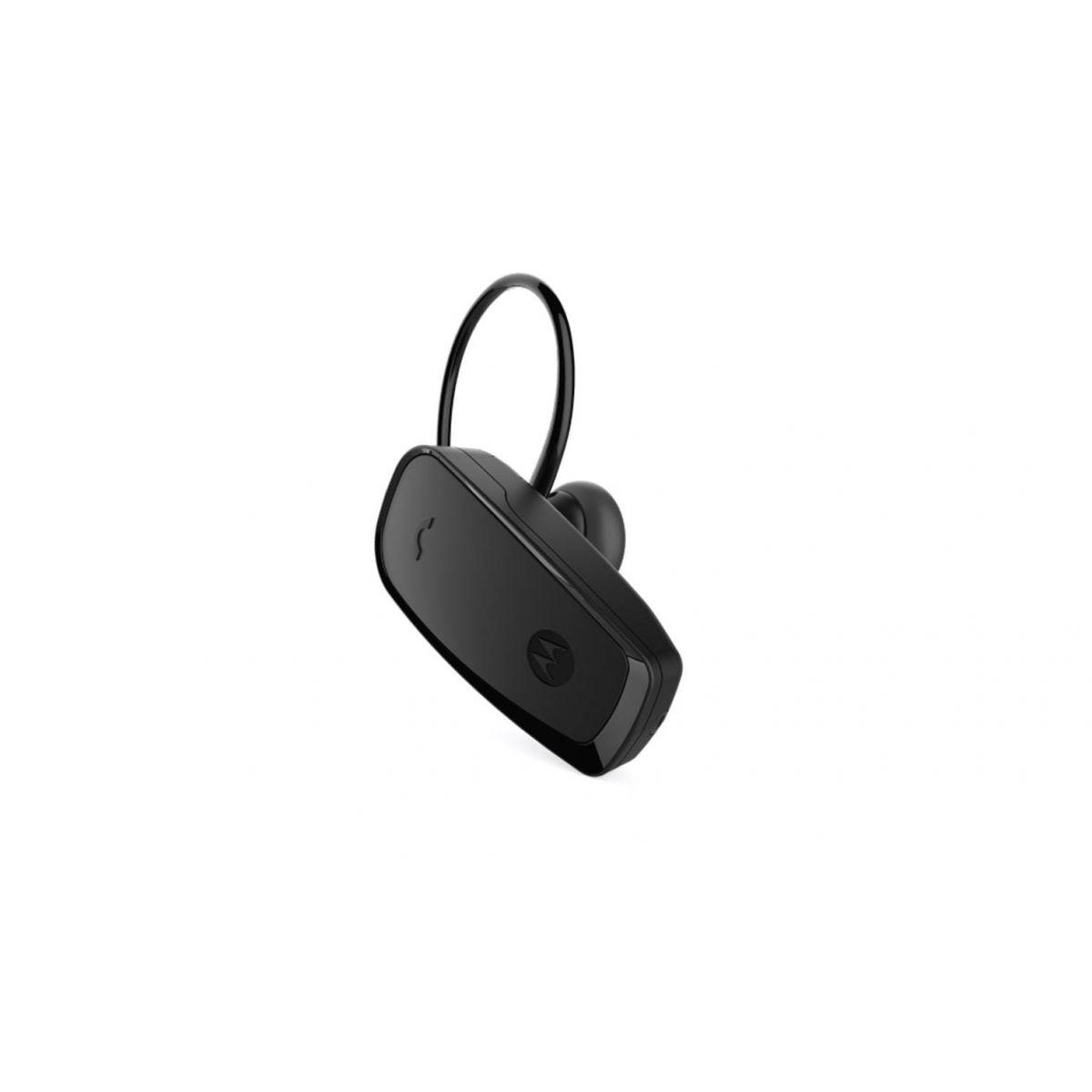 Headset Bluetooth Motorola Hk115, Microfone, Bateria Log Duração, Alcance 90m, Multi Ponto - Preto
