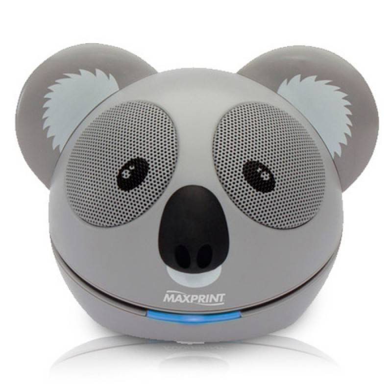 Caixa de Som Portátil Mini Koala 4W RMS - Maxprint