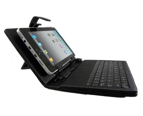 Capa para tablet de 8 polegadas com teclado universal -  Preta