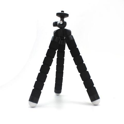 Mini Tripé Flexível Ajustavel P Celulares Preto + Controle Selfie