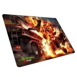 Mouse Pad Gamer TecDrive Couter Hand Fogo