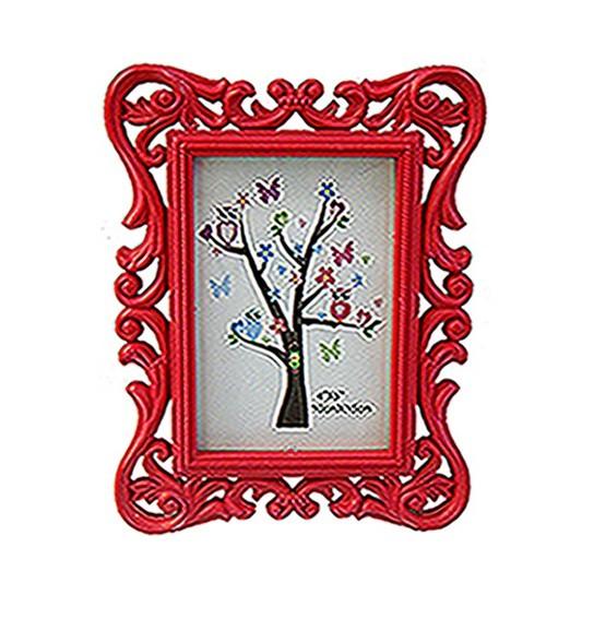 Porta Retrato Barato Provençal 10x15 SXYK-2544 Vermelho