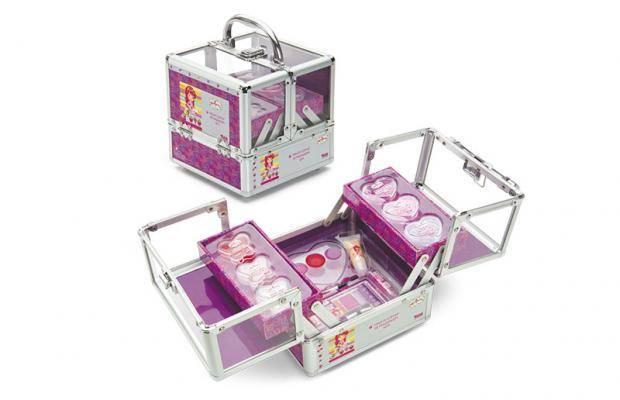 Kit de Maquiagem Fenzaa Wi Fi da Moranguinho MMC2313 + Sombra em gel glitter glam Monster High fenzza SGX2352