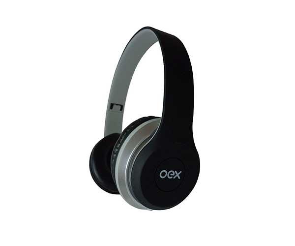 COMBO OEX TWIN DUAL SOUND HEADSET + FONE DE OUVIDO, HF-100 PRETO