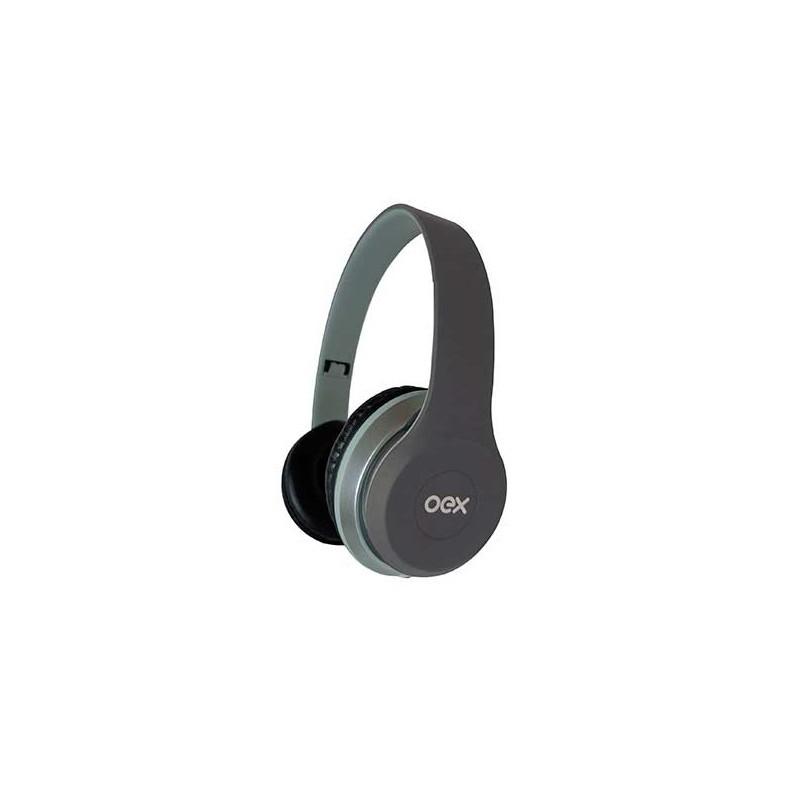 COMBO OEX TWIN DUAL SOUND HEADSET + FONE DE OUVIDO, HF-100 Cinza