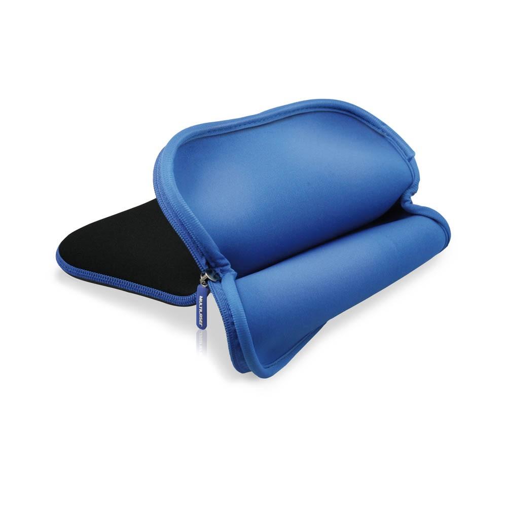 Case Neoprene Multilaser para Tablet 10 Preto e Azul - BO179
