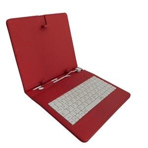 Capa para tablet de 7 Polegadas com Teclado Vermelha